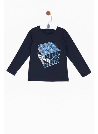 Nebbati Erkek Çocuk Mavi T-Shirt Lacivert